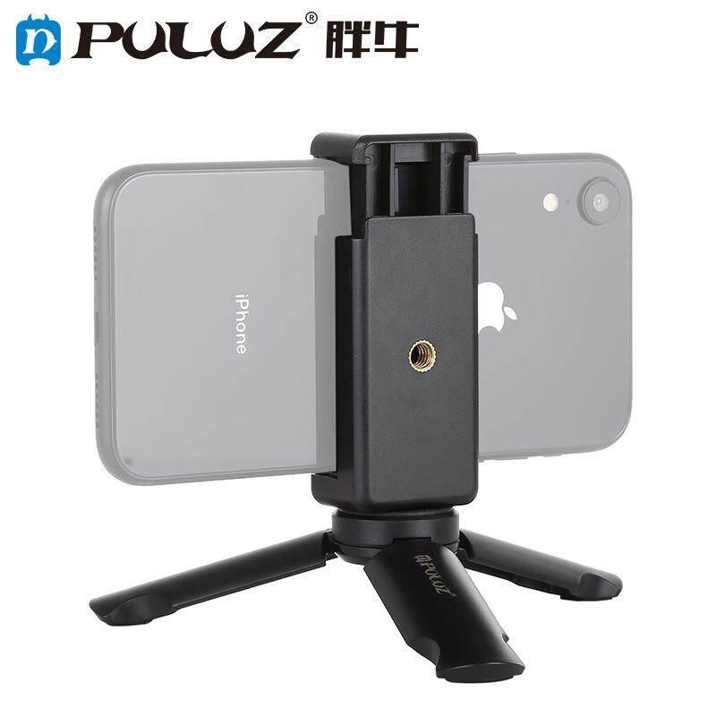 Light Puluz Portable Lipat Mini Tempat Plastik Tripod Universal Ponsel Braket Penjepit Pemegang Smartphone Klip
