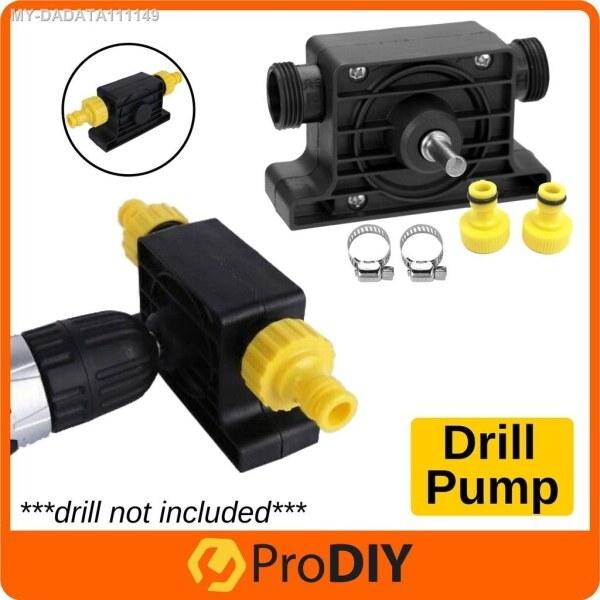 High Efficiency Portable Plastic Self-Priming Drill Pump Transfer Pump Oil Fluid Water Fit Cordless Drill