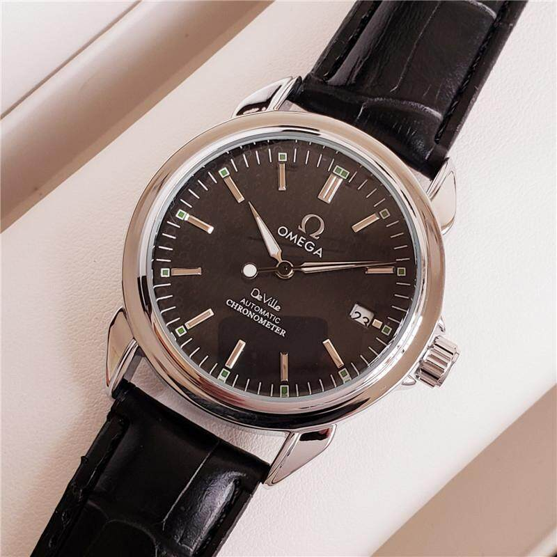 New high quality original _OMEGA watch luxury brand mechanical leather  watch men and women models simple retro wild business sports and leisure