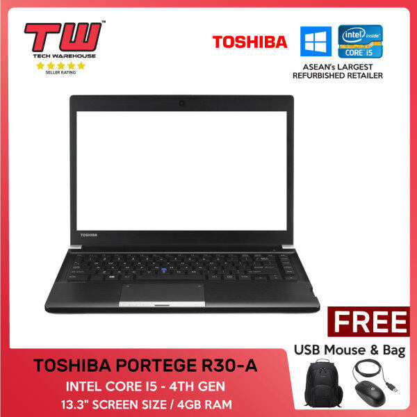 TOSHIBA PORTEGE R30-A / INTEL CORE I5 4TH GEN / LAPTOP / 13.3 / 4GBRAM Malaysia
