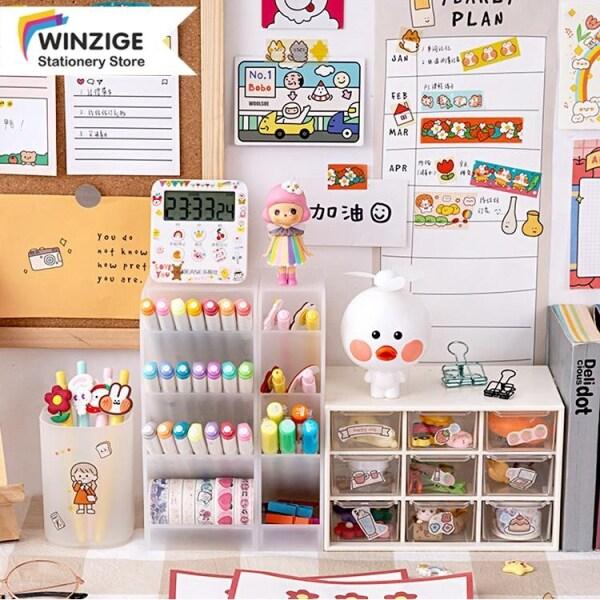 Mua Hộp lưu trữ văn phòng phẩm Winzige chất liệu PP bền, dùng trong văn phòng/trường học, giá tốt