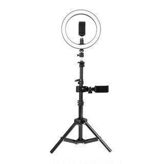 Đèn Tròn Lấp Đầy 26Cm Đèn LED Bổ Sung Đèn Lấp Đầy Gấp Được, Để Chụp Ảnh Trang Điểm Phát Trực Tiếp Video YouTube Với Giá Đỡ Ba Chân 160Cm Giá Đỡ Điện Thoại thumbnail