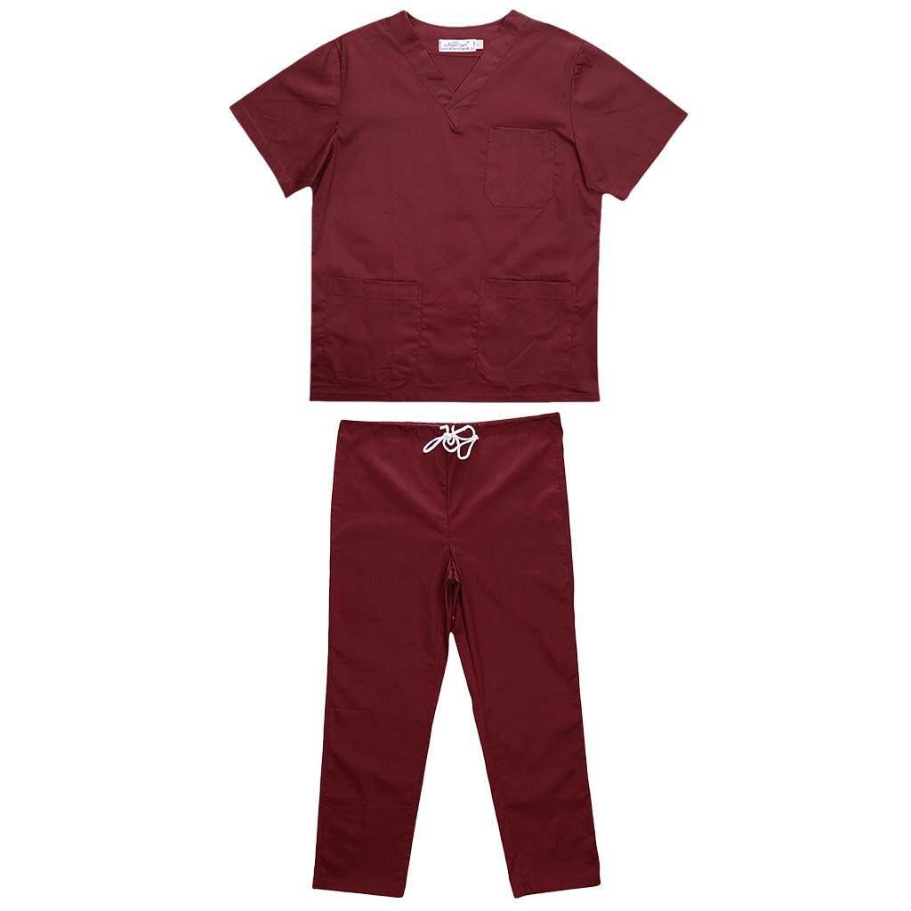 Fenteer Men Women Medical Spa Nursing Clinic Scrub Sets Hospital Uniform
