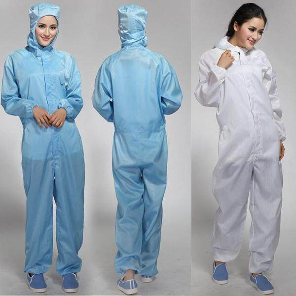 Anti-static for Three One-piece Protection Suit Dustproof Clothes Cleanroom Garment Anti-static Cleanness Clothing Static Food Factory dian zi fu