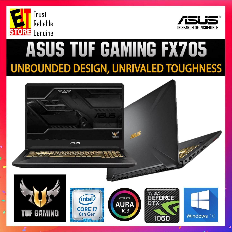 ASUS TUF FX705G-MEV169T GOLD STEEL (I7-8750H/8GB/1TB+256GB/GTX1060 6GD5/17.3/W10/2YRS) + BAG Malaysia