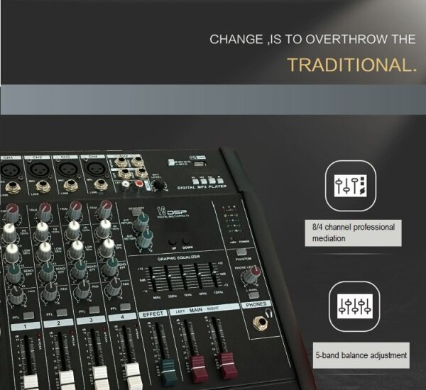 Mixer with amplifier 4 channel 6 channel high power all-in-one with Bluetooth effect Malaysia