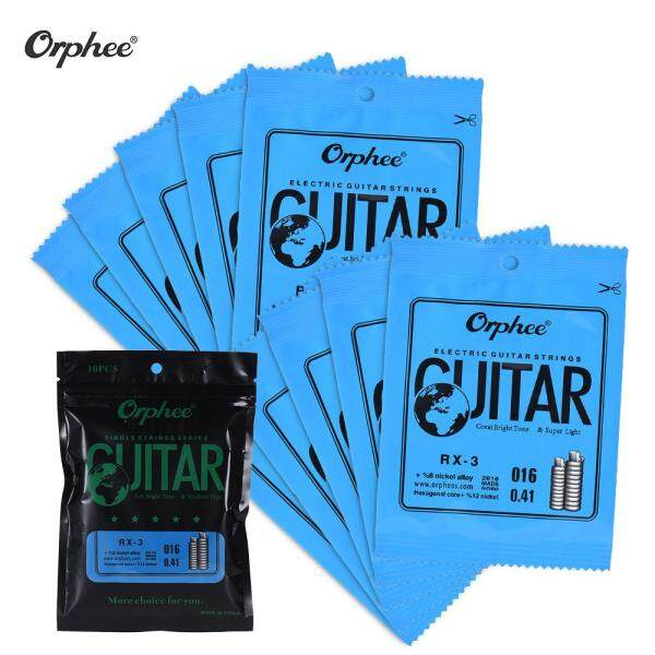 Orphee RX-3 Single String Replacement for Electric Guitar 3rd String (.016) 10-Pack Nickel Alloy Super Light Tension Malaysia