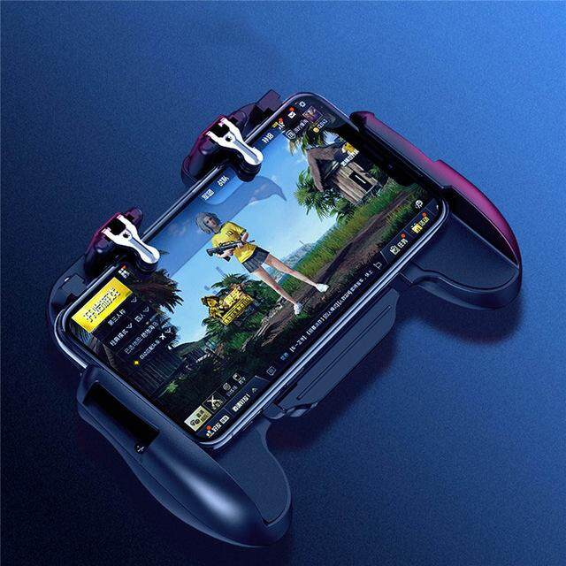 Mobile Phone L1r1 Controller Holder With Cooling Fan For Smartphone Games Trigger Free Fire Pubg Mobile Controller For Iphone Pubg Controller Mobile Phone Gaming Joystick Handle W/ Bracket Holder + Shooter By Trait-Tech Trade Center.