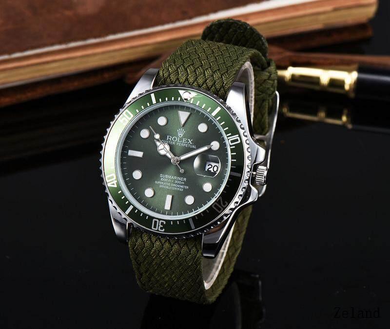 Rolex_Fashion Luxury Faux Leather Women Mens Quartz Analog Watch Watches bán chạy