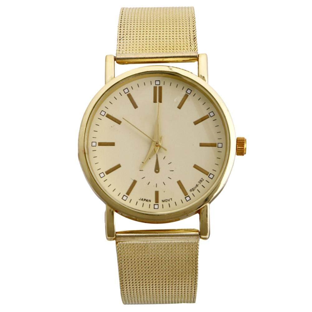 fa10d773f Fashion Womens Wrist Watch Classic Gold Quartz Stainless Steel