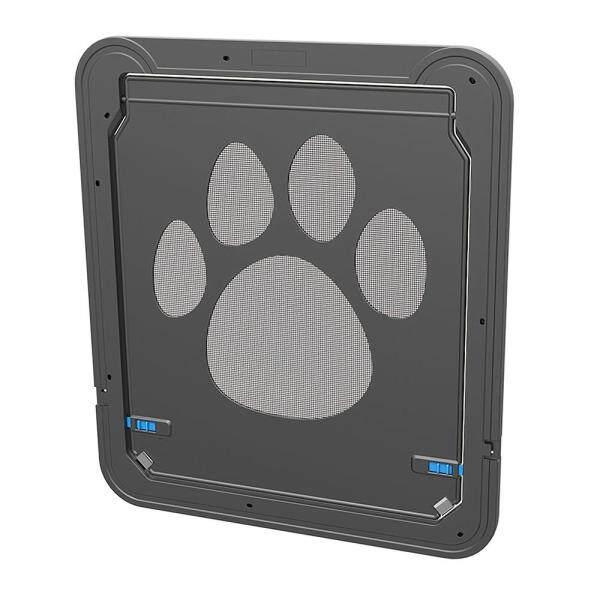 Cửa màn hình thú cưng Màn hình nắp từ tính Cửa màu đen có thể khóa tự động cho chó