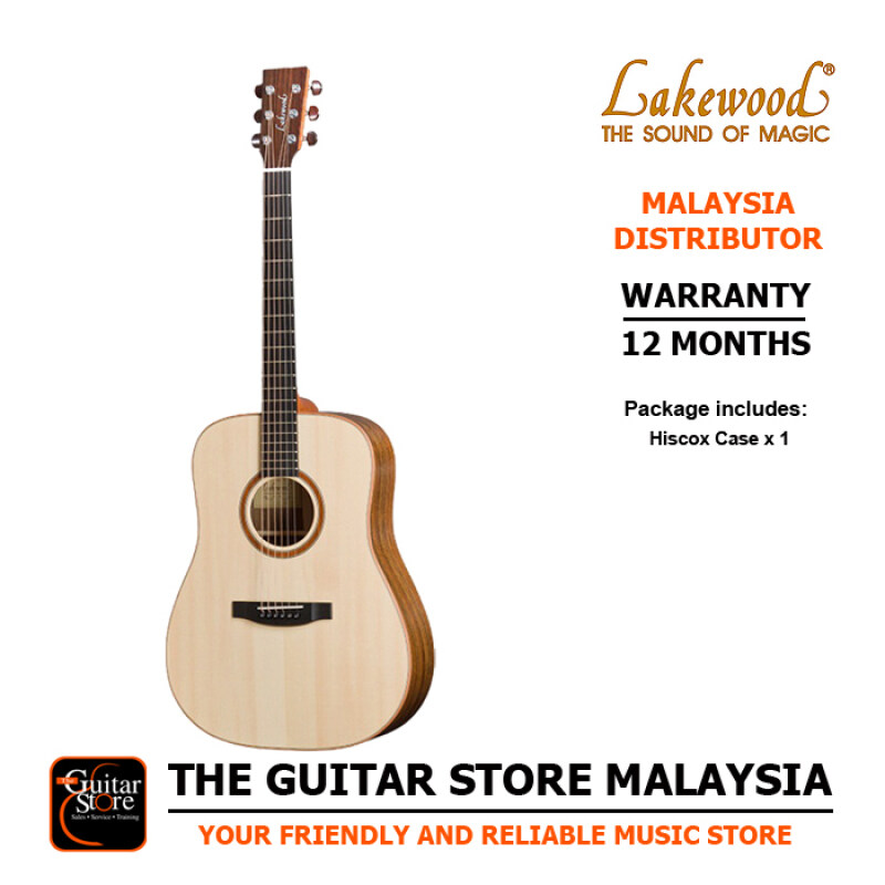 Lakewood D18 Premium Full Solid Acoustic Guitar With Hiscox Hardcase Malaysia