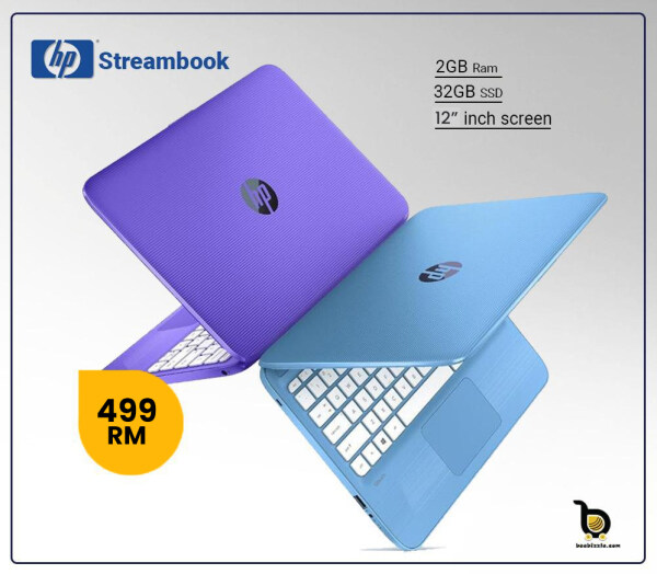 HP Stream Pro 11 Notebook, Intel Celeron N2840 Processor, 2GB RAM, 32GB SSD, 12 Inch HD LED Screen, Windows 10 Malaysia