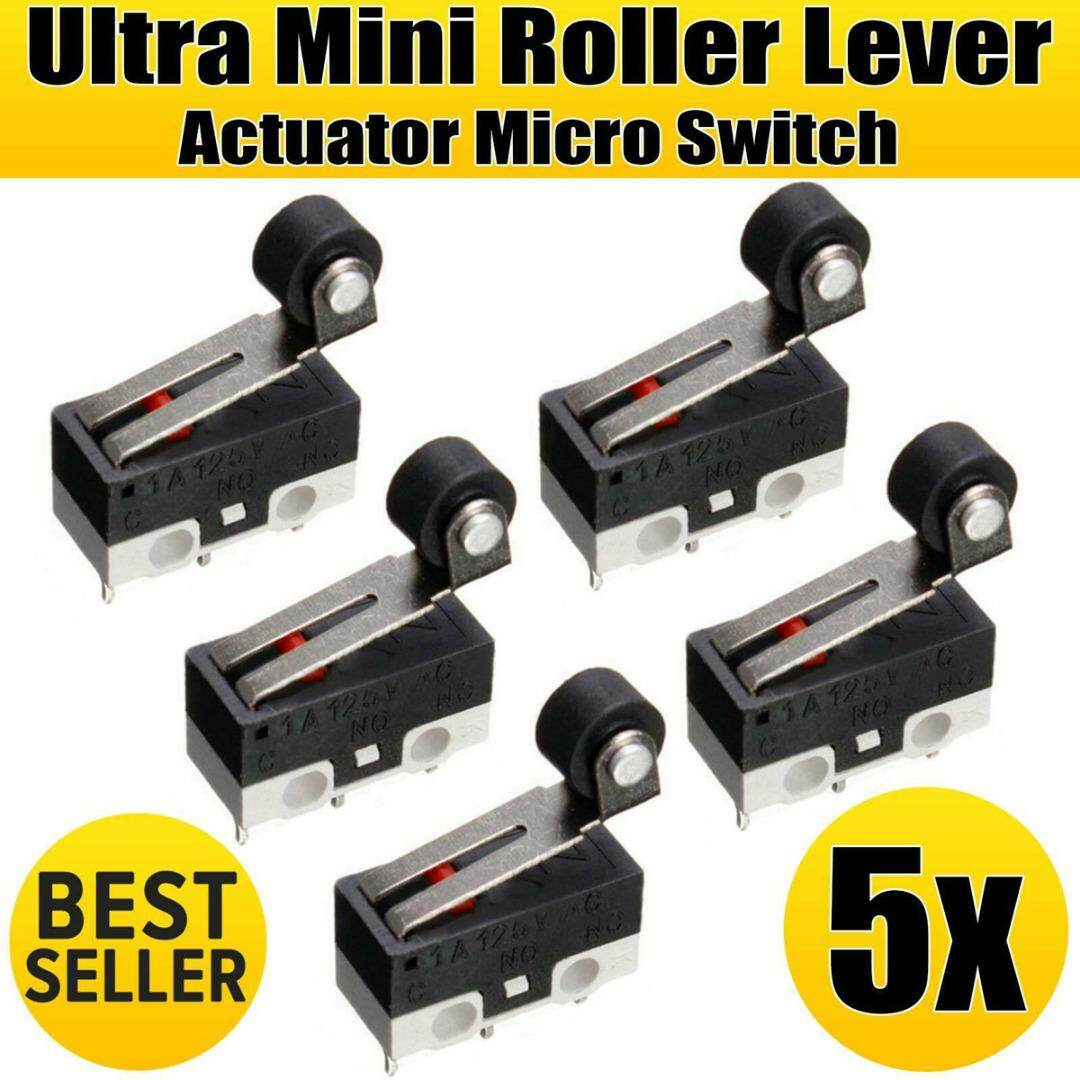 idealhere 5pcs Mini Roller Lever Actuator Microswitch SPDT Sub Miniature Micro Switch