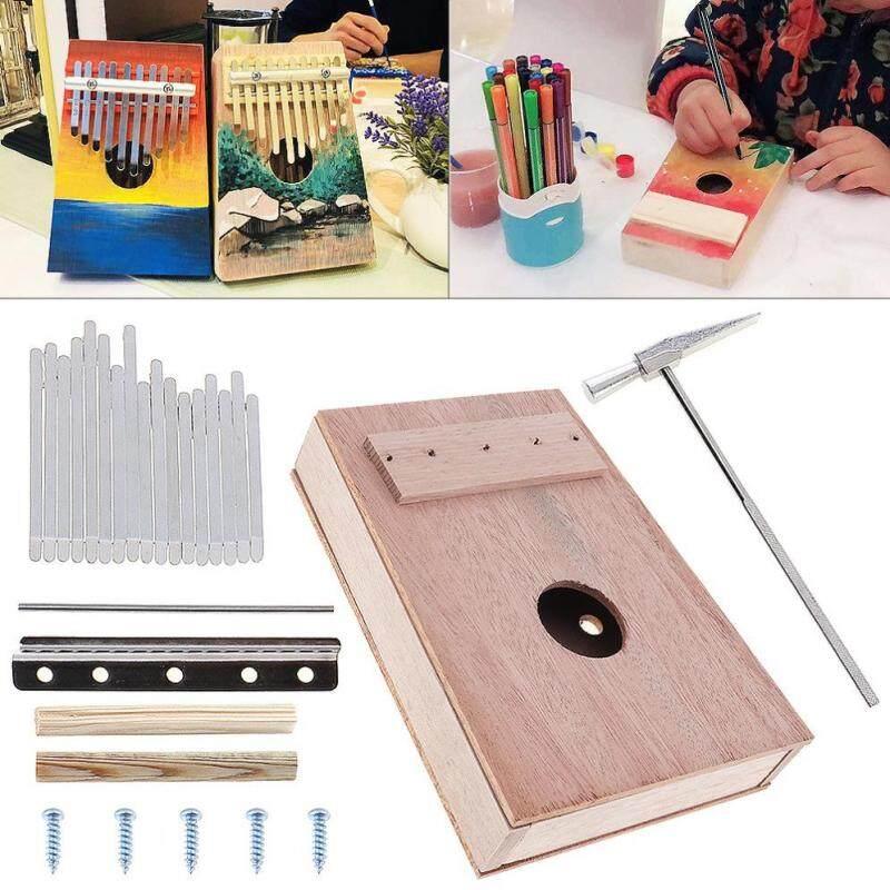 17 Phím Kalimba DIY Bộ Gỗ Gụ Ngón Tay Cái Piano cho Handwork Tranh Cha Mẹ-Con Chiến Dịch