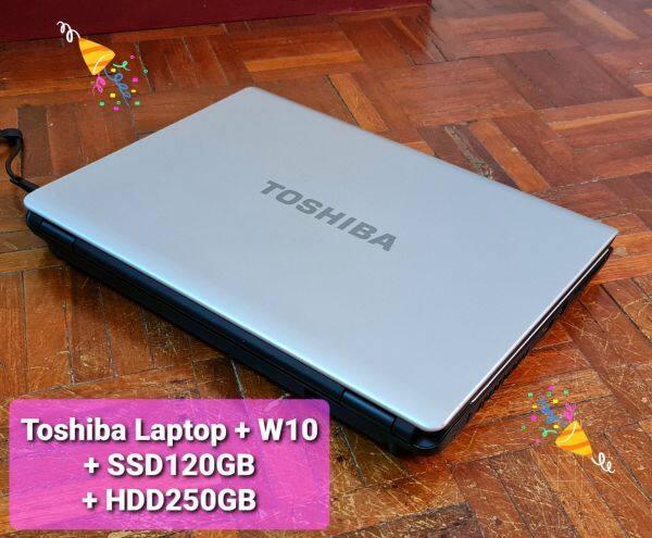 Toshiba Laptop + W10 + SSD120GB + HDD250GB Malaysia