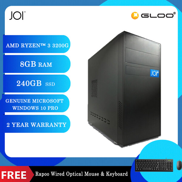 JOI PC A1032 (Ryzen 3 3200G/8G/240GB SSD/W10P) Free Combo Wired Keyboard+Mouse Malaysia