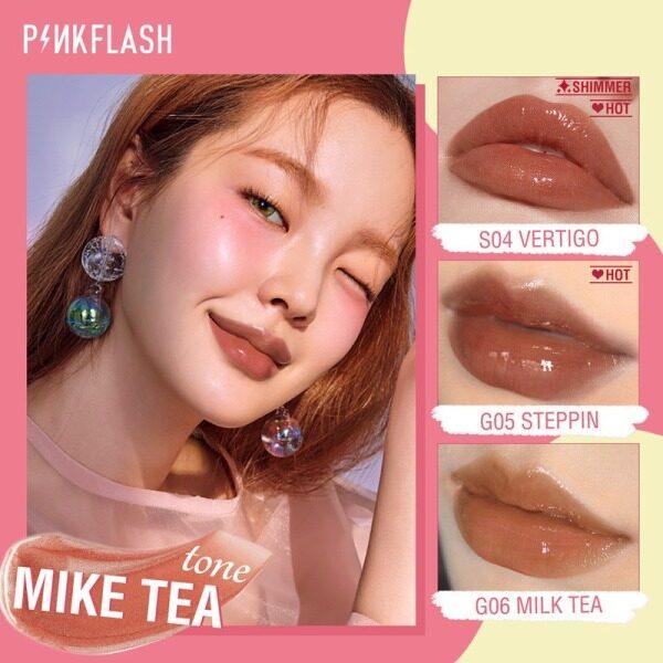 PINKFLASH OhMyGloss Lip Gloss Moisturizing Long Lasting Waterproof Shine Shimmer Lip Care 11 Colors Lipstick Ink Lips Makeup Cosmetic Beauty