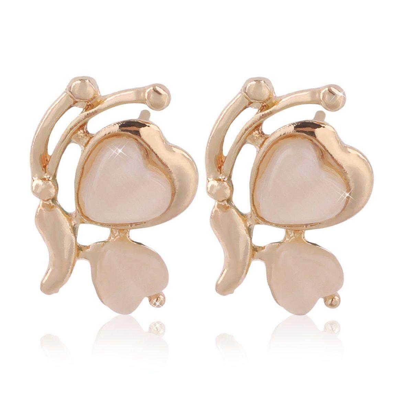 Pilihan Favorit Indah Paduan Opal Butterfly Telinga Giwang Telinga Pin untuk Wanita Hadiah Natal