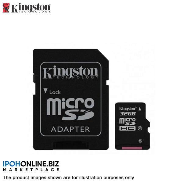 Kingston 32GB microSDHC Class 10 UHS-I 80MB/s R MicroSD Card with Free Adapter SDC10G2/32GBFR