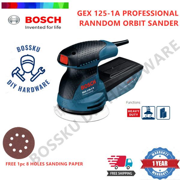 BOSCH Professional Random Orbital Sander GEX125-1A free 1pcs Velcro Sanding Paper Sanding Polishing