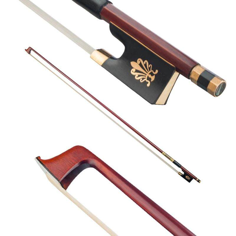 Solid Brazilwood 4/4 Full Size Violin Fiddle Bow Well Balanced Circle Style Ebony Frog Malaysia