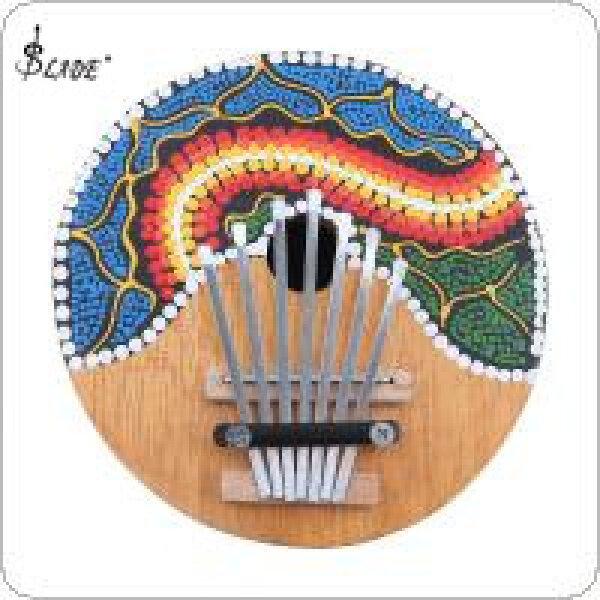 SLADE 7 Key Kalimba Colored Drawing Coconut Shell Thumb Piano Mbira Natural Mini Keyboard Instrument Malaysia