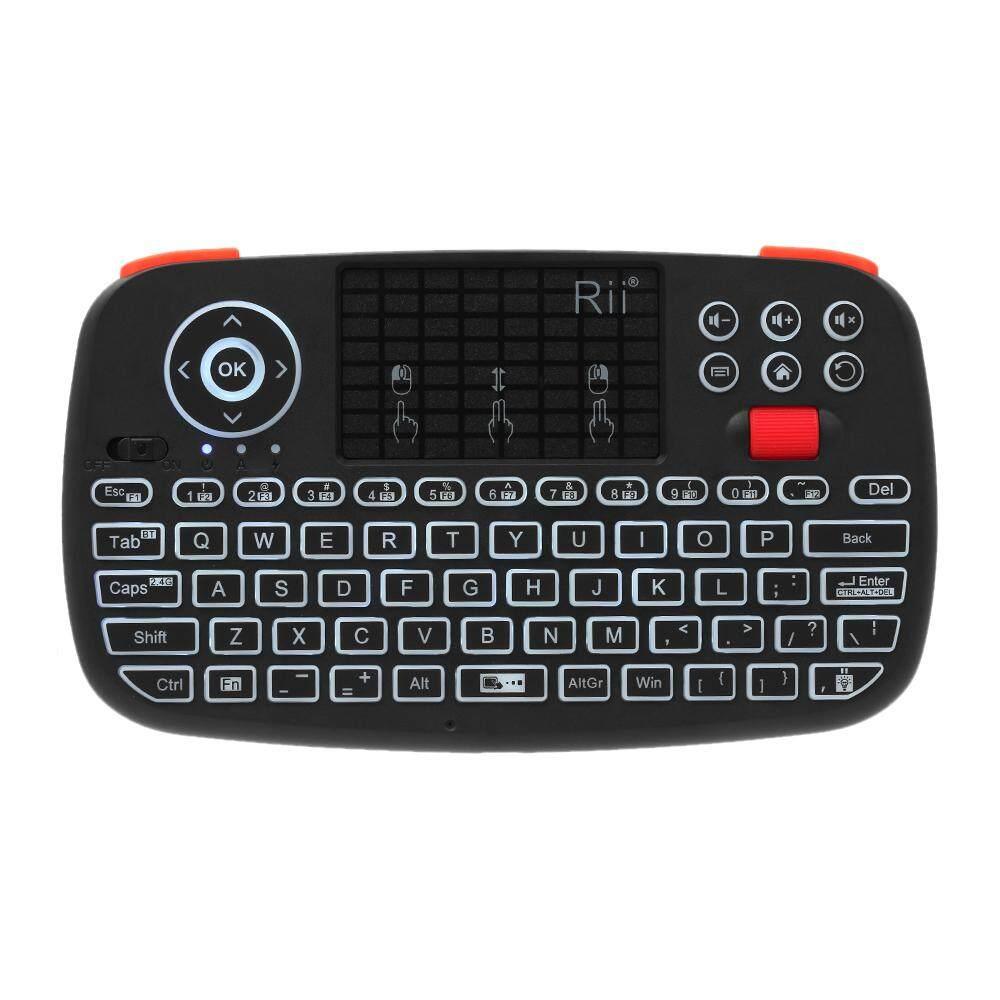 001eaaf51f0 Rii i4 Mini Wireless Keyboard Bluetooth & 2.4GHz Dual Modes Handheld  Fingerboard Backlit Mouse Touchpad