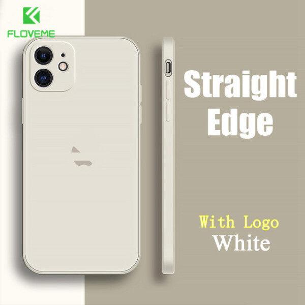 Floveme Ốp Điện Thoại Silicon Lỏng Cho Iphone 12 Pro MAX IP 12 Ốp Lưng Cho Iphone 11 Pro MAX 7Plus 8Plus XS MAX XR Cạnh Vuông Với Carema Bảo Vệ