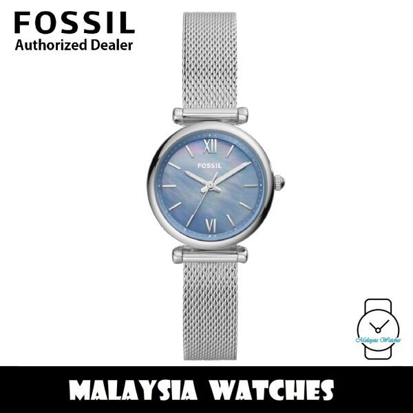 (OFFICIAL WARRANTY) Fossil Womens ES5083 Carlie Mini Three-Hand Stainless Steel Mesh Watch (2 Years Fossil Warranty) Malaysia