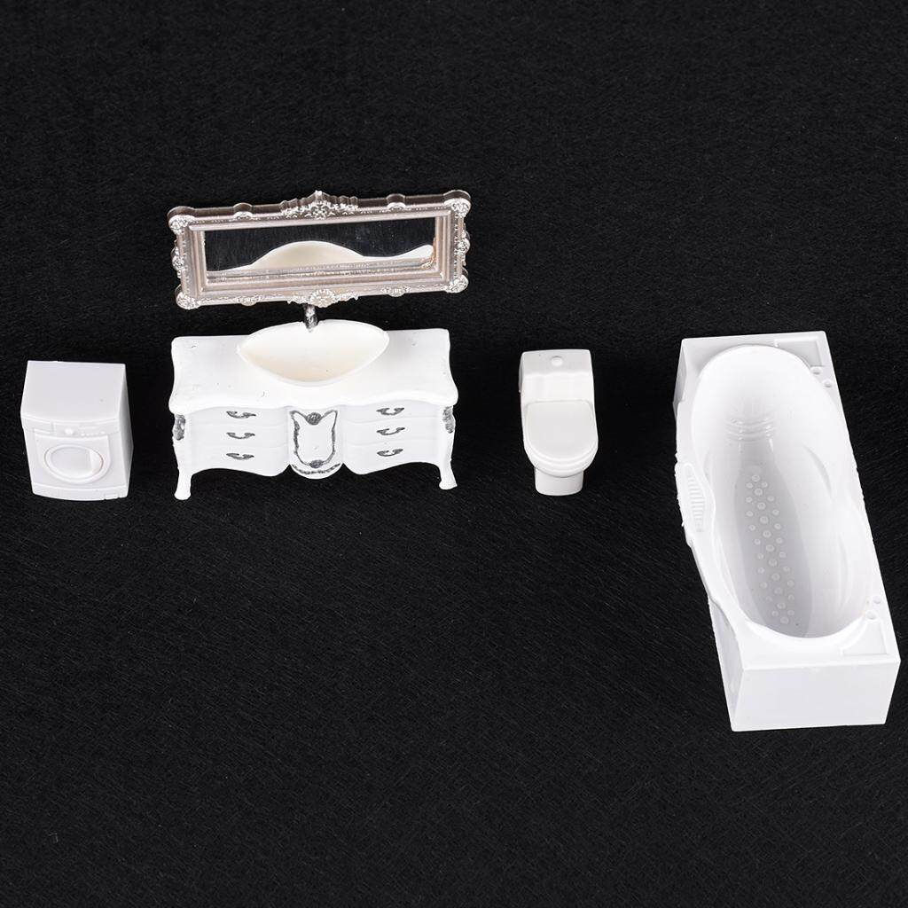 Perfeclan 1/set 1/25 Scale Modern Decoative Bathroom Furniture Kits Layouts Miniatures
