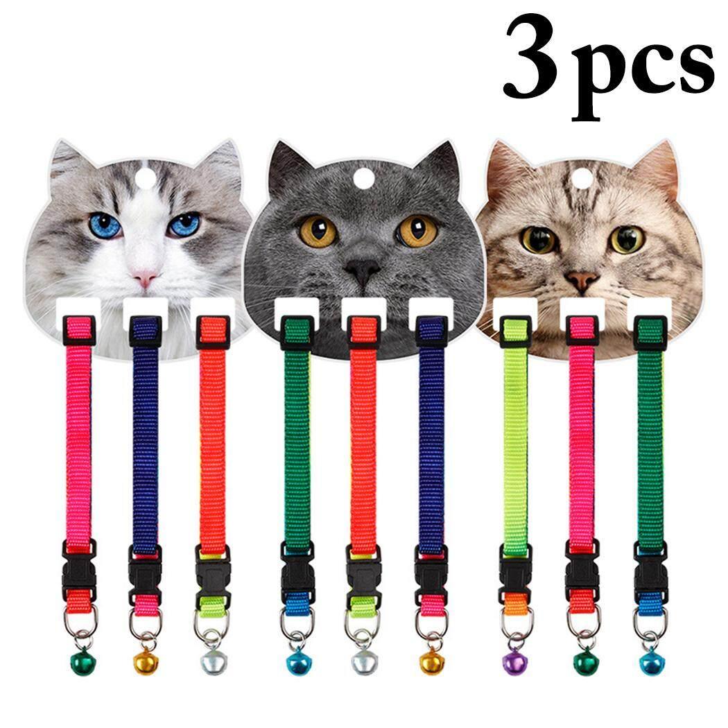 3 CHIẾC Vòng Cổ Thú Cưng Nặng Nylon Điều Chỉnh Cổ Cho Chó Mèo Cổ có Chuông, màu Ngẫu Nhiên - 1