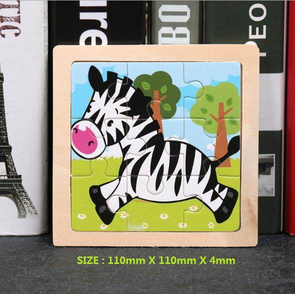 Hanna - Wooden Alphabet English Letters Jigsaw Puzzle Children Kids Education / ABC / Animals / Shapes /  Match Game for Kids