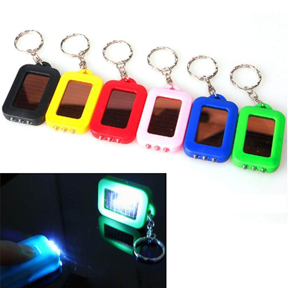 MinI Senter Surya LED Bohlam Portable Tenaga Surya Isi Ulang 3 Lampu LED Kelap-kelip