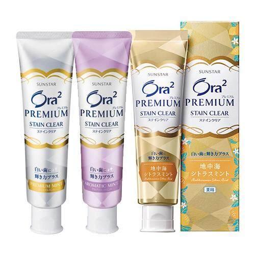 Sunstar Ora2 Premium Stain Clear Toothpaste 100g (3 types), Premium Mint