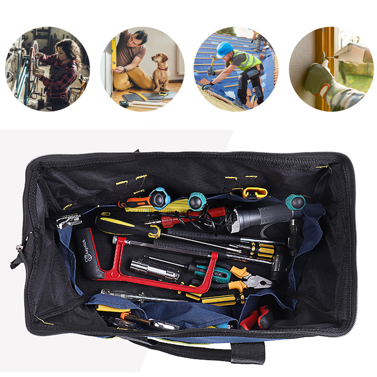 18/'/'75KG Bag Packing Technician Heavy Duty Tools Carrier Pouch Organizer Storage