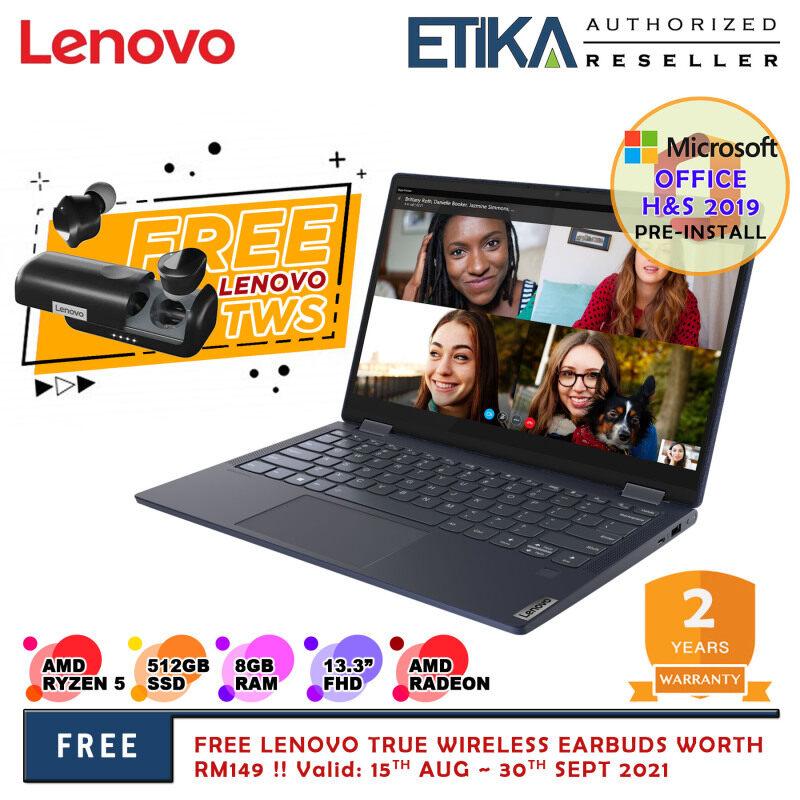 Lenovo Yoga 6 13ALC6 82ND003LMJ 13.3 FHD Touch Screen Laptop (AMD Ryzen 5 5500U/ 8GB/ 512GB SSD/ AMD Radeon Graphics/ W10+H&S) Malaysia