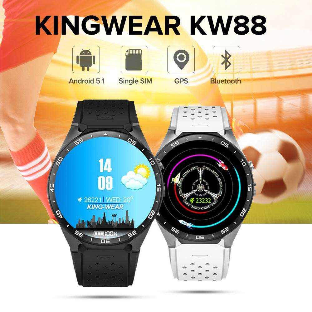 KingWear KW88 Android 5.1 1.39 inch Amoled Screen 3G Smartwatch Phone MTK6580 Quad Core 1.39GHz