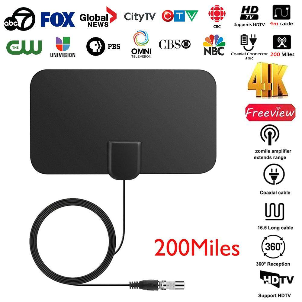 JTWEB Digital HDTV Antenna Amplifier Repeater TV Signal Surf Antena 200  Miles on Sale