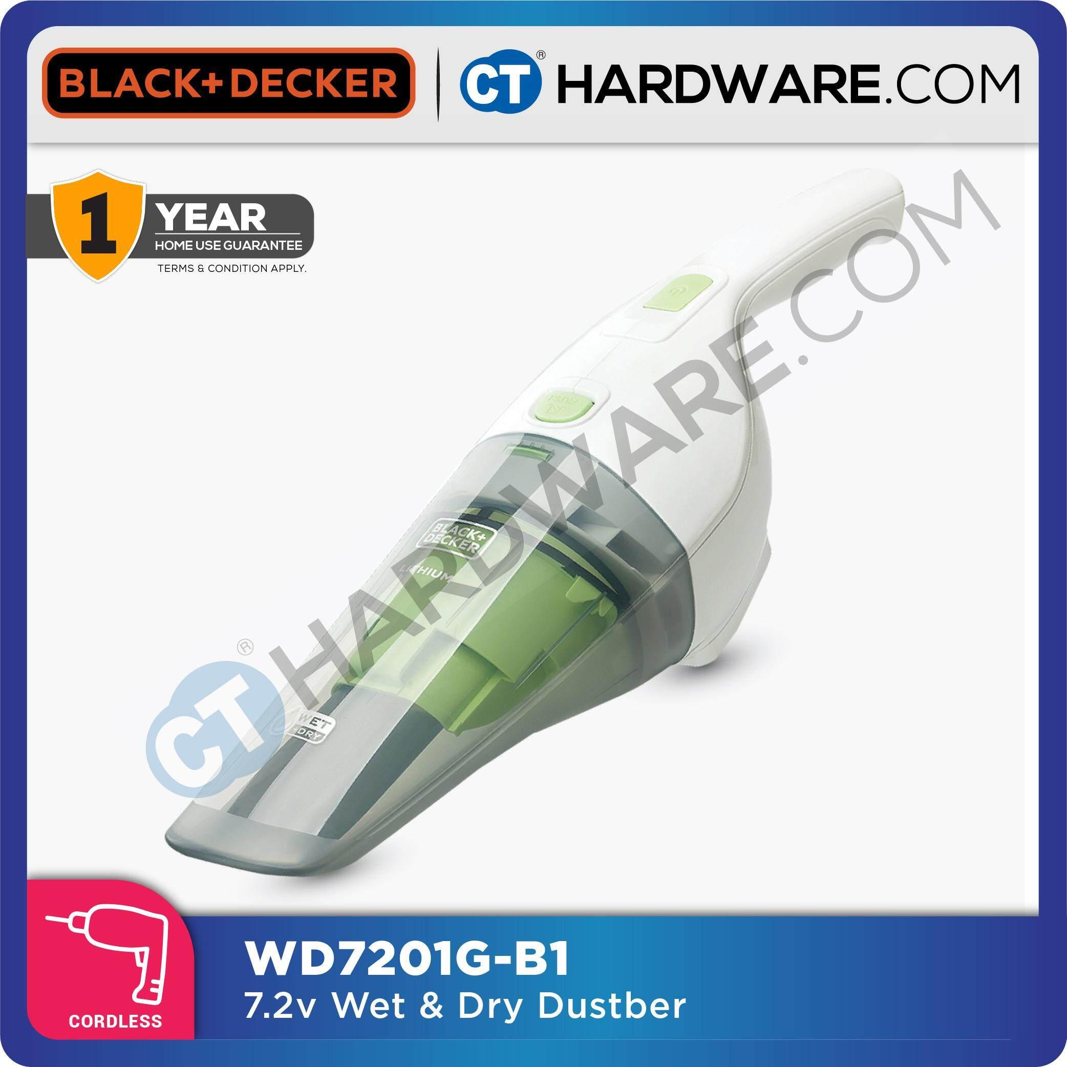 BLACK & DECKER WD7201 CORDLESS 7.2V WET & DRY HAND VACUUM