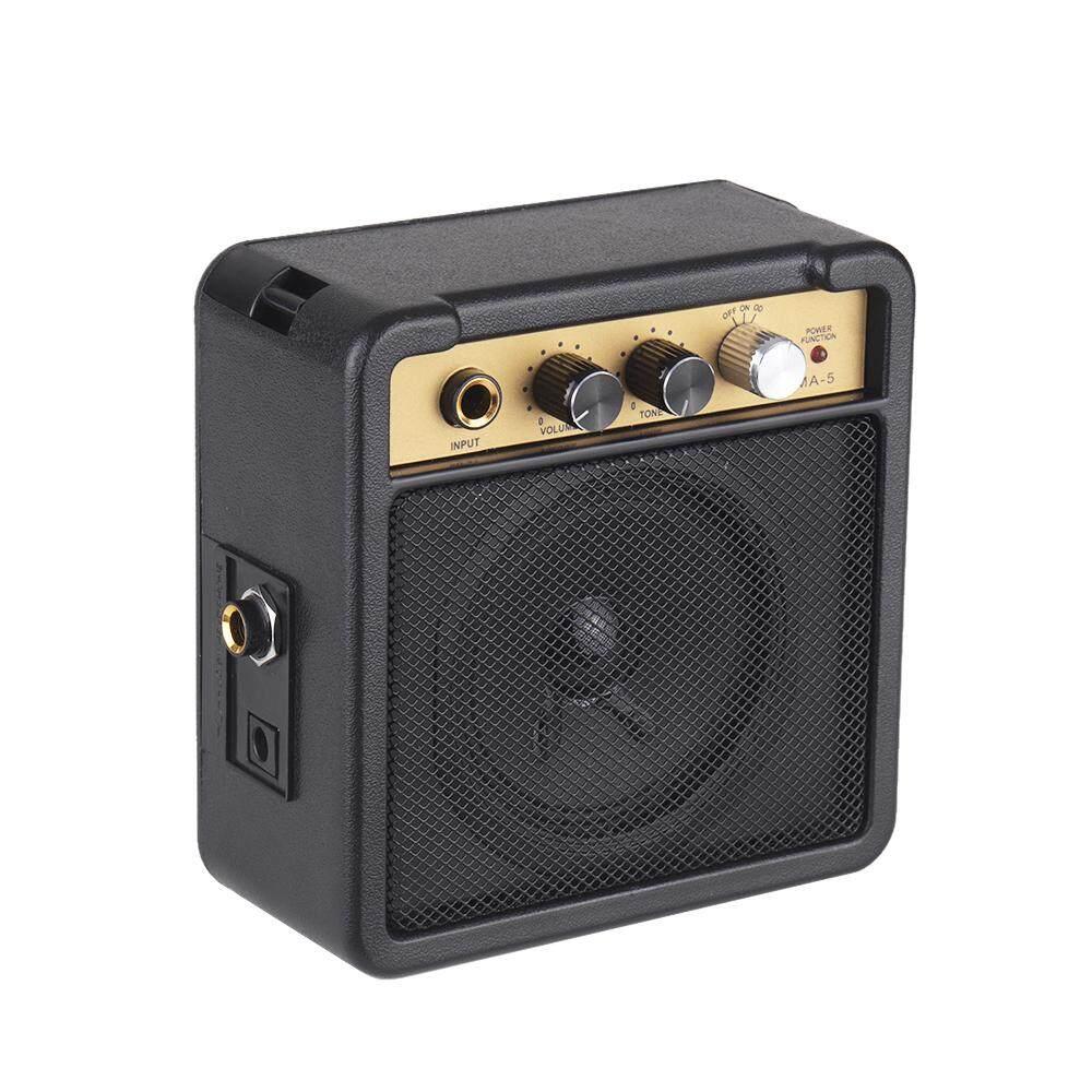 super deal Portable Mini Guitar Amplifier Amp Speaker 5W Supports Volume  Tone Adjustment Overdrive black