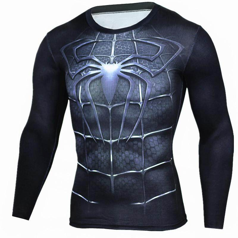 New Summer Marvel Superhero T-Shirt 3D Superman Spiderman Batman Black  Panther 6163cdf9f