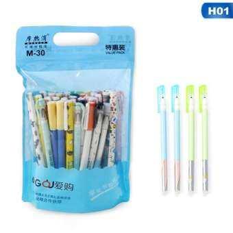 Meiyang 20 ชิ้น/เซ็ต 0.5 มิลลิเมตร Kawaii ขนาดเล็กสไตล์สด erasable ปากกาเจลสีฟ้าสีดำหมึกเขียนปากกาเป็นกลาง
