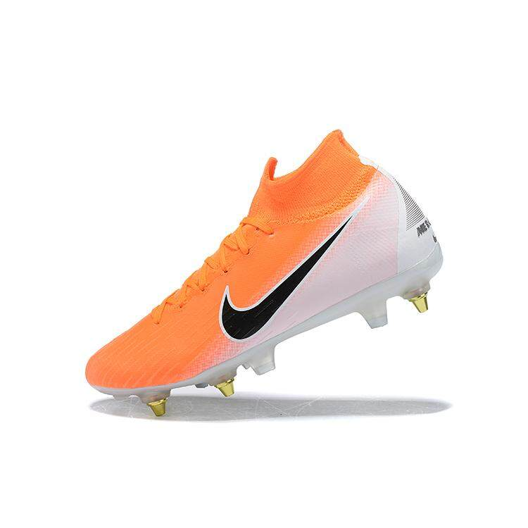 fe6e9a0ea6 N I K EMercurial Superfly VI Elite SG-Pro Steel spike soccer shoes 12  generations football shoes
