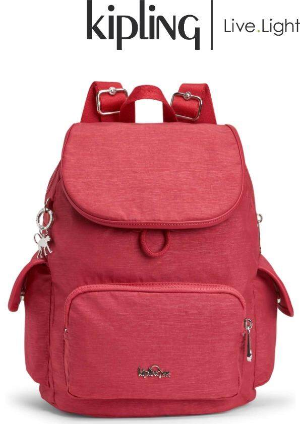 KIPLING CITY PACK S Spark Red - Small Backpack  Ladies Casual Sport Travel  Everyday Lightweight ff54958dd8