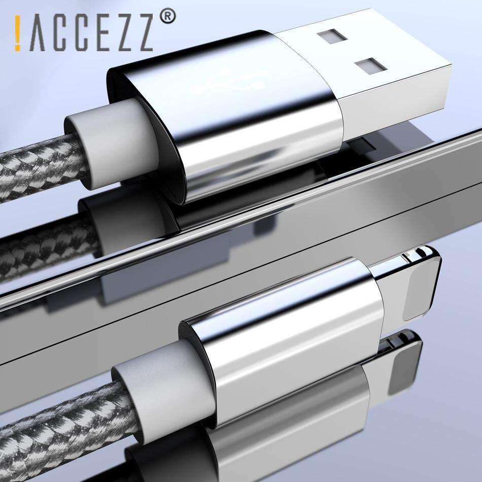 ! Accezz 1M untuk iPhone Kabel Data Pengisi Daya USB untuk iPhone X 7 6 8 6S 5S Plus X Max XR untuk iPad Mini IOS 12 8 Pin Cepat Kabel Daya