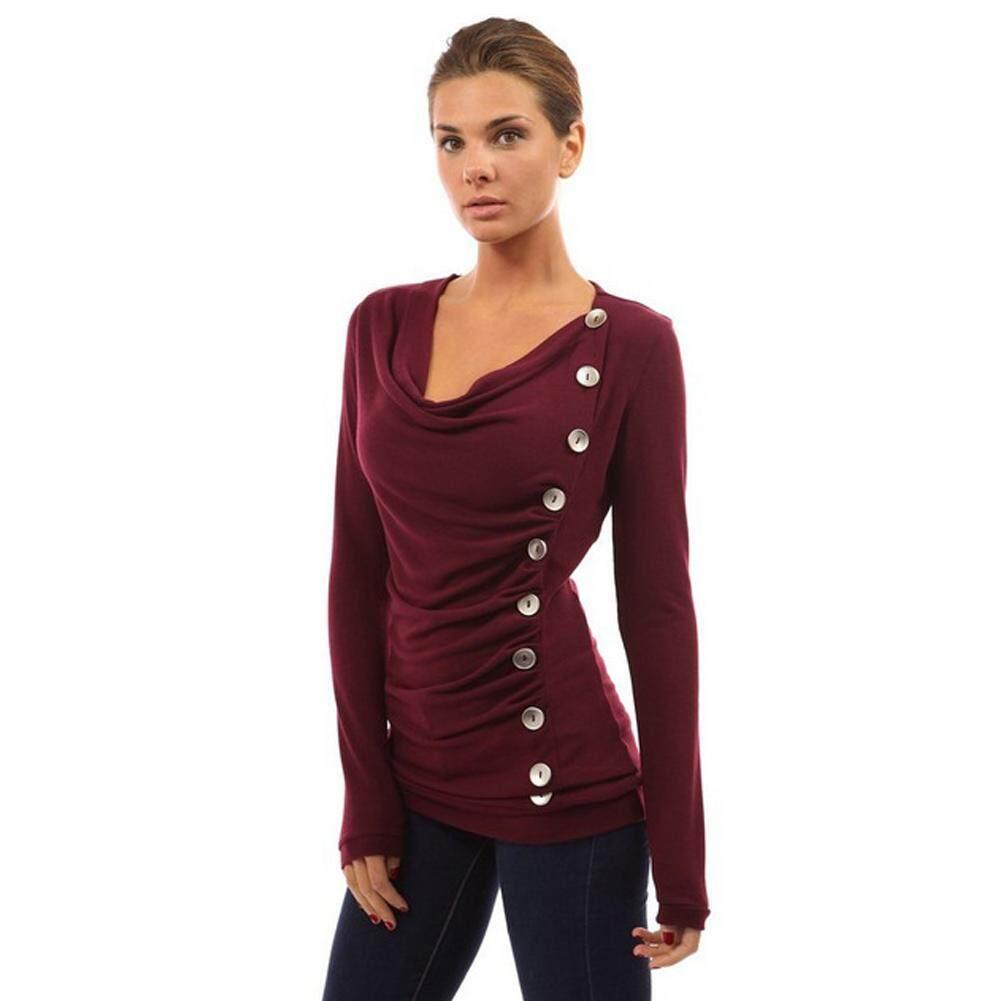 4b41f0bf0c0 1pc New Womens Lady V-neck Tops Slim Long Sleeve T-Shirt Casual Blouse