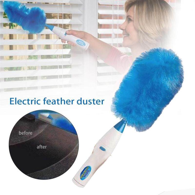 Electric Dust Wand Remover 360 Degree Rotating Spin Duster Brush Portable for Home