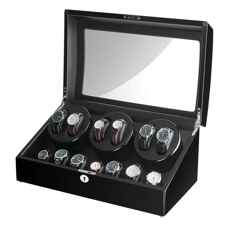 Maselex Luxury Automatic Watch Winder Wood Case 6+7 Storage 10 Working Modes Setting Malaysia