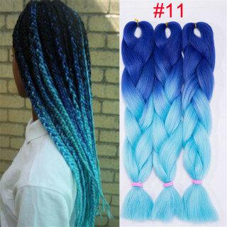Bím tóc tết khổng lồ từ sợi tổng hợp màu Ombre cho nữ (có nhiều màu khác nhau) - INTL thumbnail